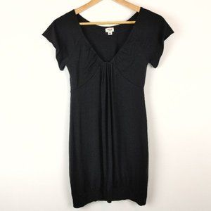Aritzia Wilfred Ruched V-Neck Banded Mini Dress